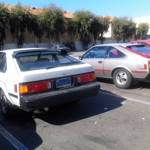 my 84 & another supra that showed up next to me when i got out of the store